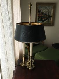 Original Stiffel 1950's Lamp,Shade is a Black Gator pattern Leather,As sold by Stiffel back Then In Decent shape works fine. $175