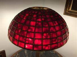 "Very nice Copy of a Tiffany Studios Lamp shade.Made by Century studios in Minnesota,its a 14"" shade that the Leading was Gold plated. This is the Shade only. To have a shade Made by them in todays money will be $1000 and this was plated in California by another maker Paul Crist and he charged I believe $500 to do that work. Asking $750 Shade only NO Base,  Signed and No damage."