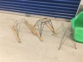 Bases are Modernica Los Angeles not the chinese Knock offs...Rocker Zinc $125 Black Rocker Base $125 and Chrome Eifel is $70