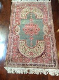 """Silk Prayer Rug.  46.5""""w x 74""""L:  $190.00"""