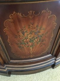 Vintage Drexel hand-painted cabinet