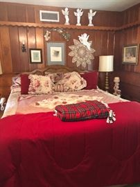 One of the many beds and fabulous bedding we have