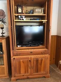 Entertainment center and TV