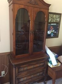 REALLY NICE SMALL TWO PIECE VINTAGE HUTCH