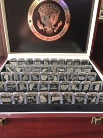 Set of 50 U.S. State Silver Bars in Case from the Lincoln Treasury           https://ctbids.com/#!/description/share/20404