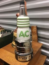 AC Delco sparkplug 1977 Jim Beam decanter