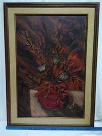 Large Framed Flower Painting   https://ctbids.com/#!/description/share/22345