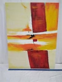 Abstract Painting on Canvas   https://ctbids.com/#!/description/share/22343