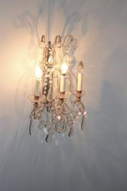 Many Quality Crystal Chandeliers, some are in Pairs. From Small to Large