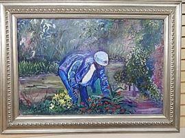 Celia McKibben Garden Acrylic/Board