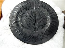 Lalique Black Crystal Tree of Life Plate