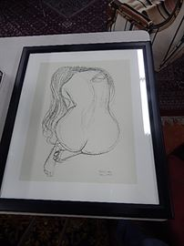 Gustave Klimt Study of Nude Lithograph