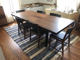 Mid-century Modern Baughman For Directional Walnut Rosewood Dining Table, 1960s