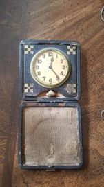 Elgin Antique travel alarm clock