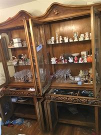 China cabinet for sale and dining table chair too vintage