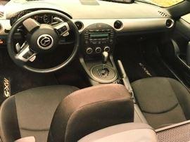 Interior view of Mazda Miata MX5