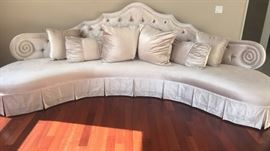Custom 1 of a kind sofa made by HAUTE HOUSE  190 inches   Taupe tones
