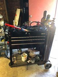 Custom welding cart , air tank
