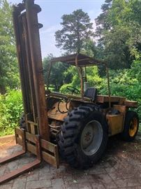 1974 Warner Swasey Outdoor Forklift (does not run)