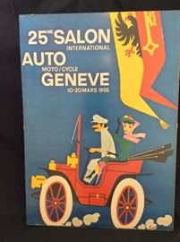 Vintage Race Car Poster.