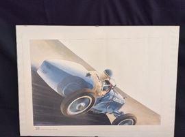 Race Car Poster.