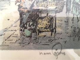 Hans Figura signature/detail.