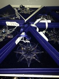 More of the lovely Swarovski Christmas annual ornaments in their original boxes