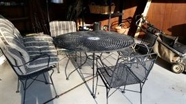 Wrought Iron Patio Set With Cushions