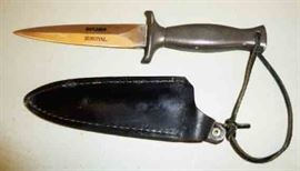 Survival Knife with Leather Sheath