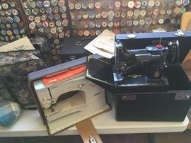 SINGER FEATHERWEIGHTS (3), SURGER & ELNA SUPER SEWING MACHINES