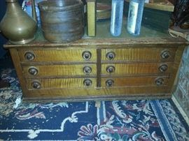 ANTIQUE SPOOL CABINET