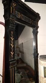Much furniture!! 8' Black Pier mirror w/ marble