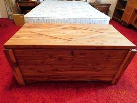 Hand made cedar chest.