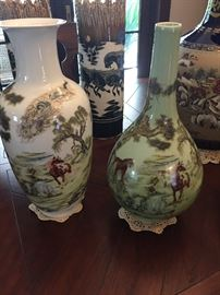 Pair of Chinese porcelain vases.  Priced separately