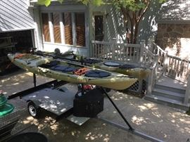 "Name brand ""Ocean Kayak"" Great condition and ready for the water.  The perfect fishing kayak for upcoming Father's Day."