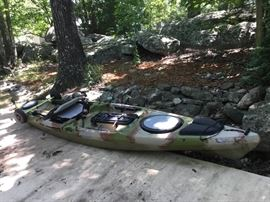 Jackson 10' long Kayak includes the Rudder.  Great condition ready for fishing.