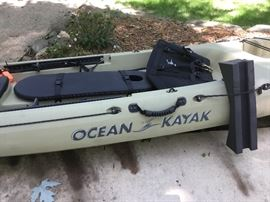 Ocean Kayak 10' with Rudder included.  Great condition and is ready for the water.  Great for fishing.