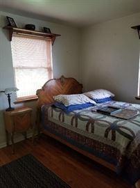 bed room set        night stand     lamp          shelf     and knick-knacks
