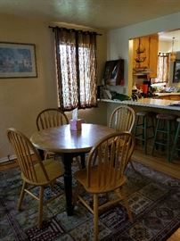 Dinning room table and chairs     bar stools