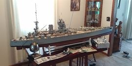 """80"""" Long R/C Boat Model of the RHS Rodney, Extremely Detailed & Fully Functional"""