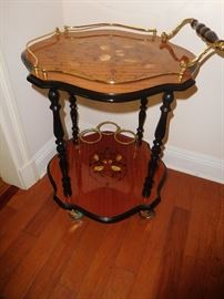 Inlaid tea cart