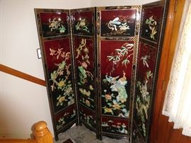 Fabulous inlaid very heavy room divider