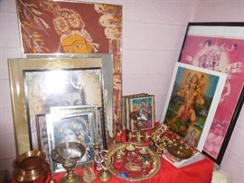 A sampling of Hindu items