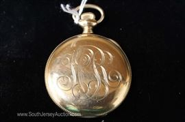 "P.B. Blicklen 17 Jewels Pocket Watch by ""Hamilton Watch Company""  C.W.C. Co. Trade Mark"