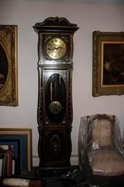Working Grandfather Clock with Mother of Pearl Inlay