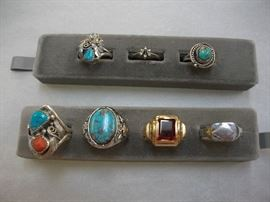 Sterling and gold rings