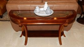LOVELY SOFA OR ENTRY TABLE. THERE IS A MATCHING END TABLE TO MATCH