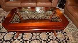 COFFEE TABLE THAT MATCHES SOFA ENTRY TABLE AND END TABLES. PRICED AS A SET OR SEPERATELY