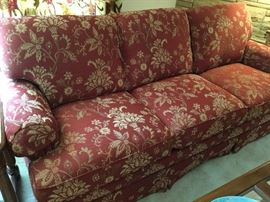 Red and gold tones Flexsteel sofa