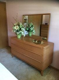 Heywood Wakefield dresser and mirror